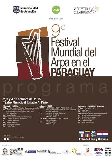 festival mundial del arpa en el paraguay programa 2015